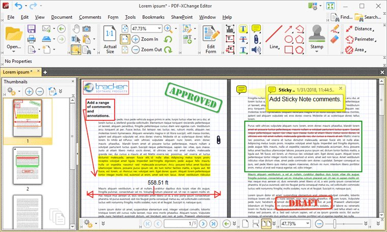 PDF-XChange Editor – Commenting