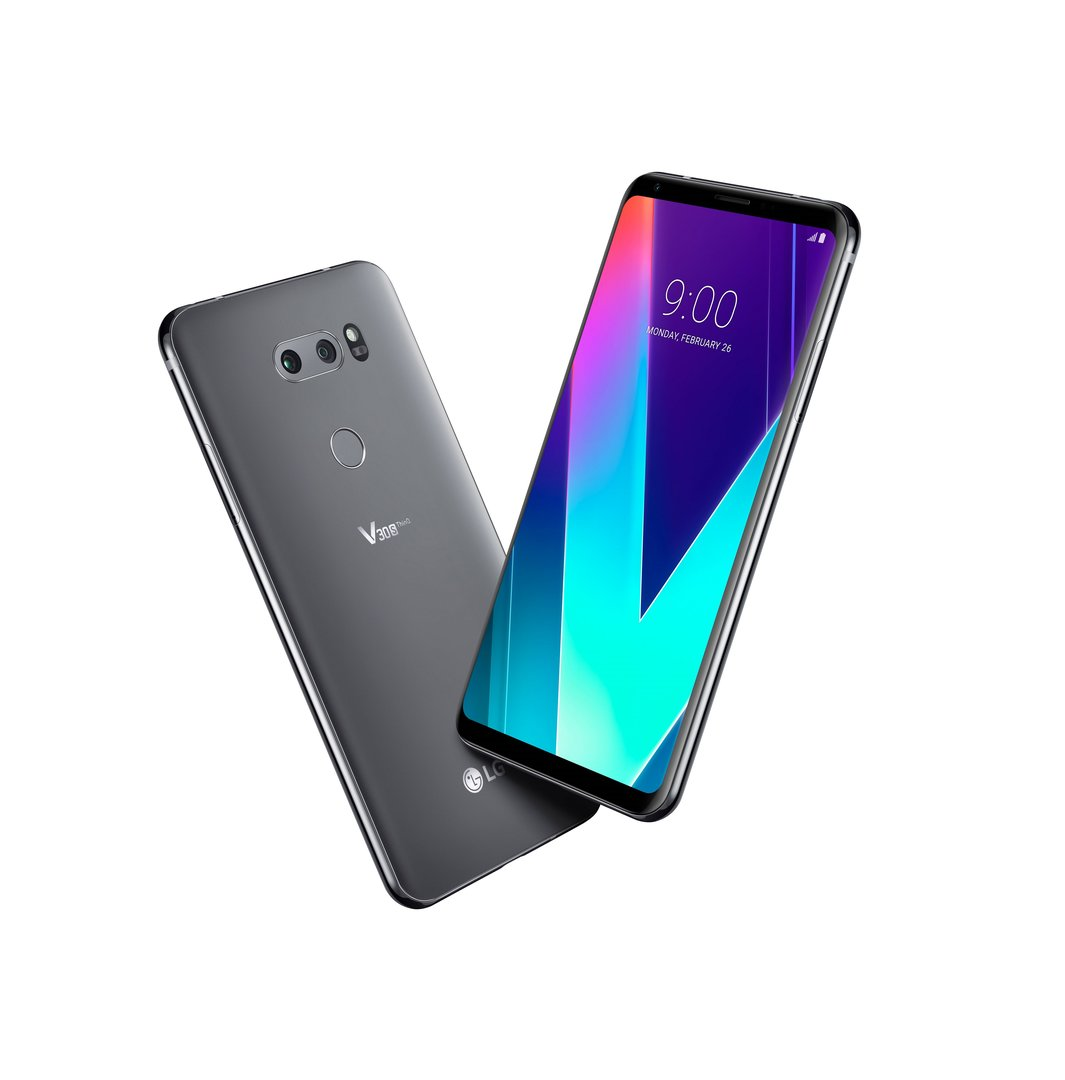 Das LG V30S ThinQ in New Platinum Gray