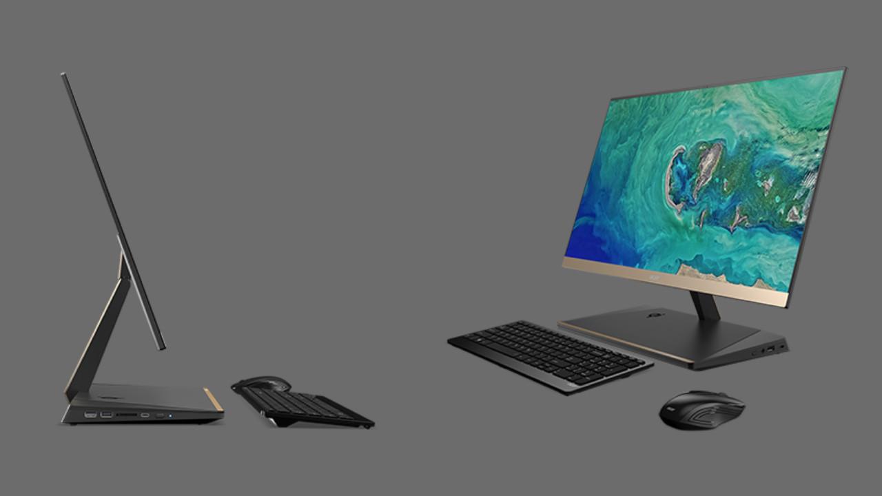 Acer Aspire S24: Schlanker All-in-One-PC mit Notebook-Technik im Standfuß