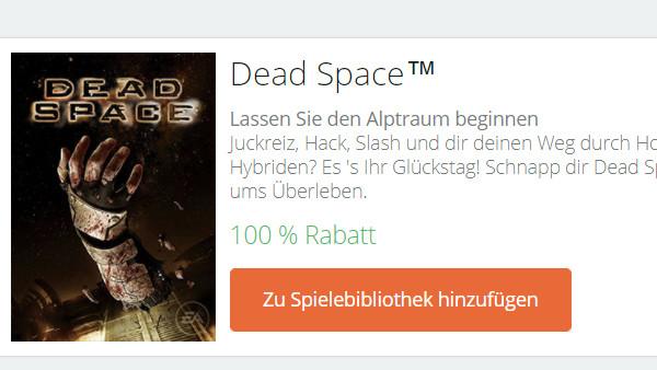 Aufs Haus: EA verschenkt Dead Space nach 4 Jahren noch einmal