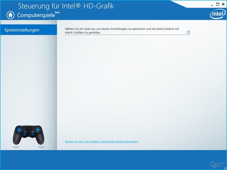 Intel Grafiktreiber – Spieleoptimierung