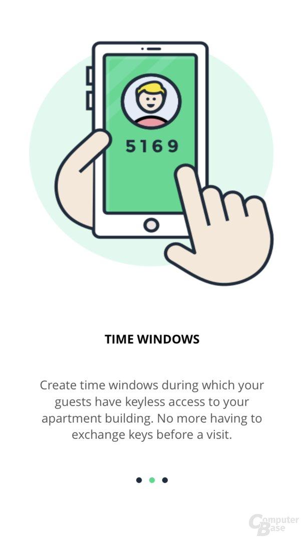 Einrichtung des nello one per App