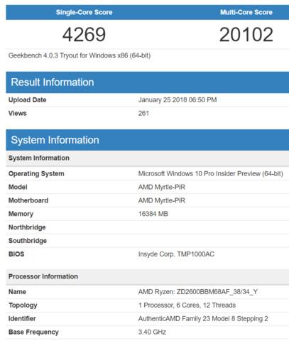 AMD Ryzen 5 2600 im Geekbench