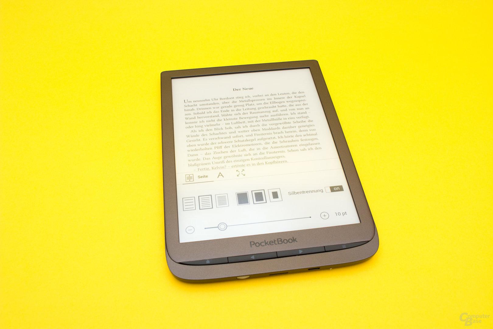 Zahlreiche Texteinstellungen erhöhen den Lesekomfort