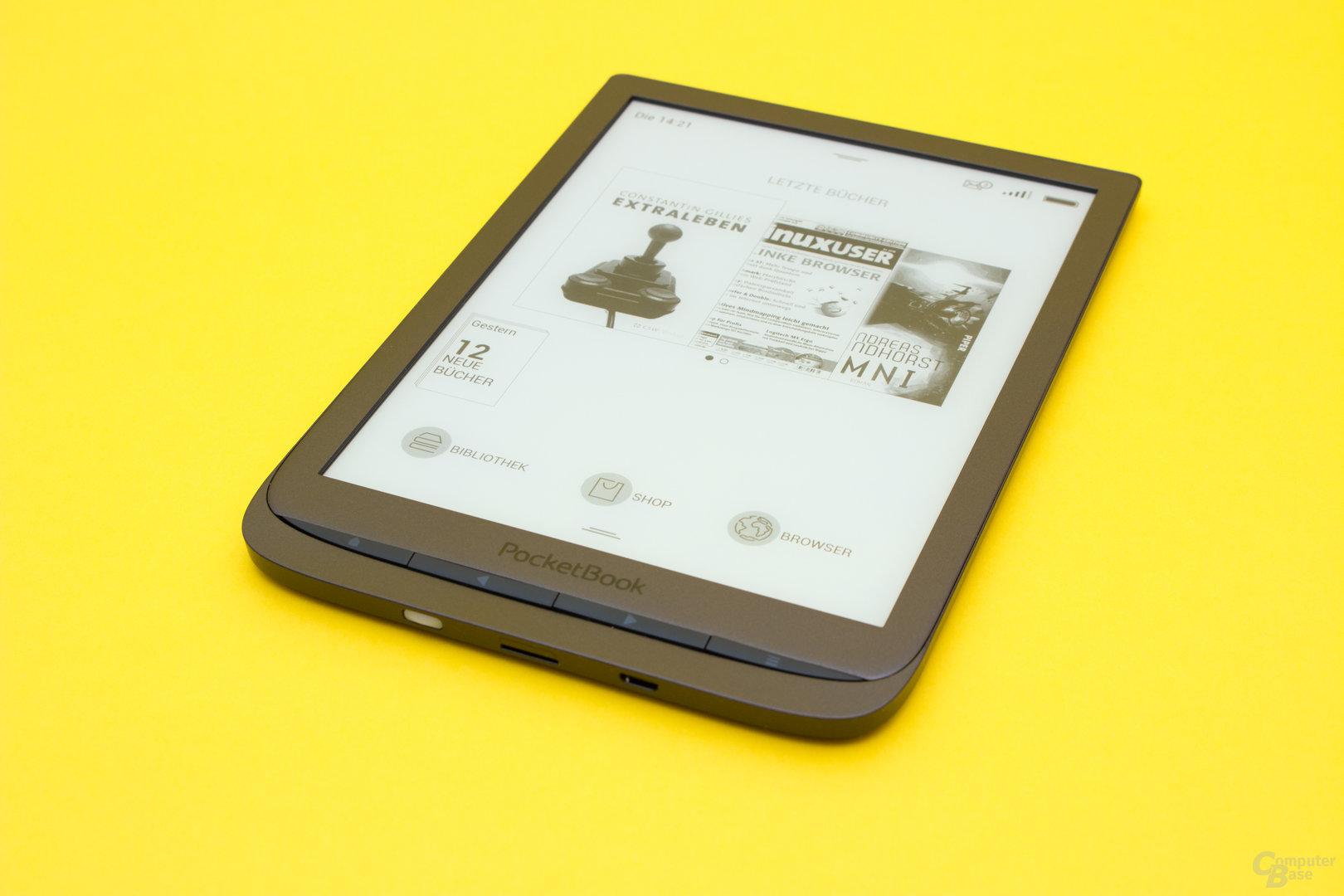 Die Homescreen des PocketBook InkPad 3
