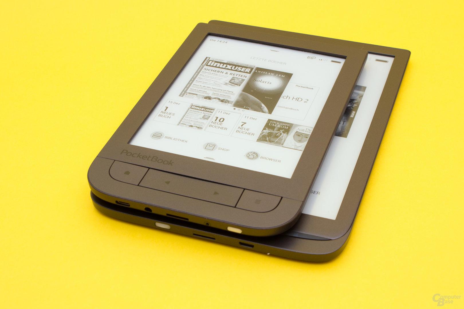 Größenvergleich PocketBook Touch HD 2 und InkPad 3