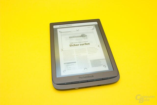 Die Cropp-Funktion ermöglicht eine größere Darstellung von PDF-Dokumenten