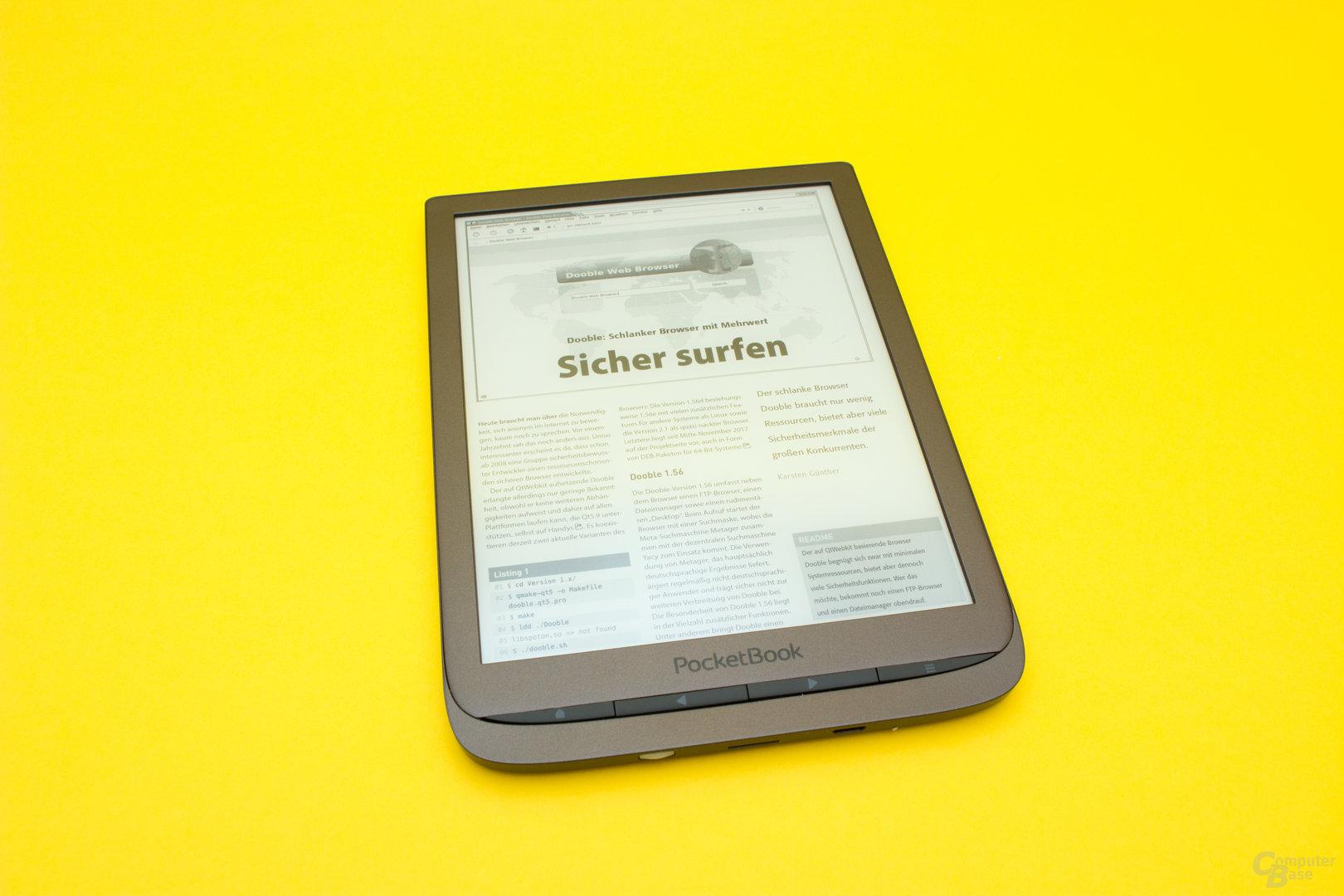Der PocketBook InkPad 3 besitzt eine sehr gute PDF-Darstellung