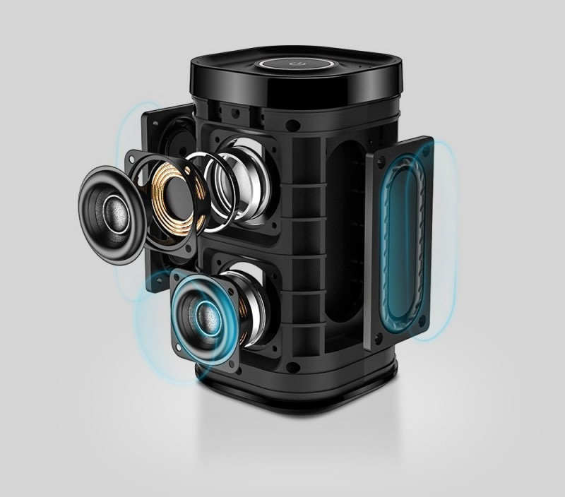 Der DP300 mit komplexen Lautsprecher-Aufbau – aber ohne Stereo-Effekt