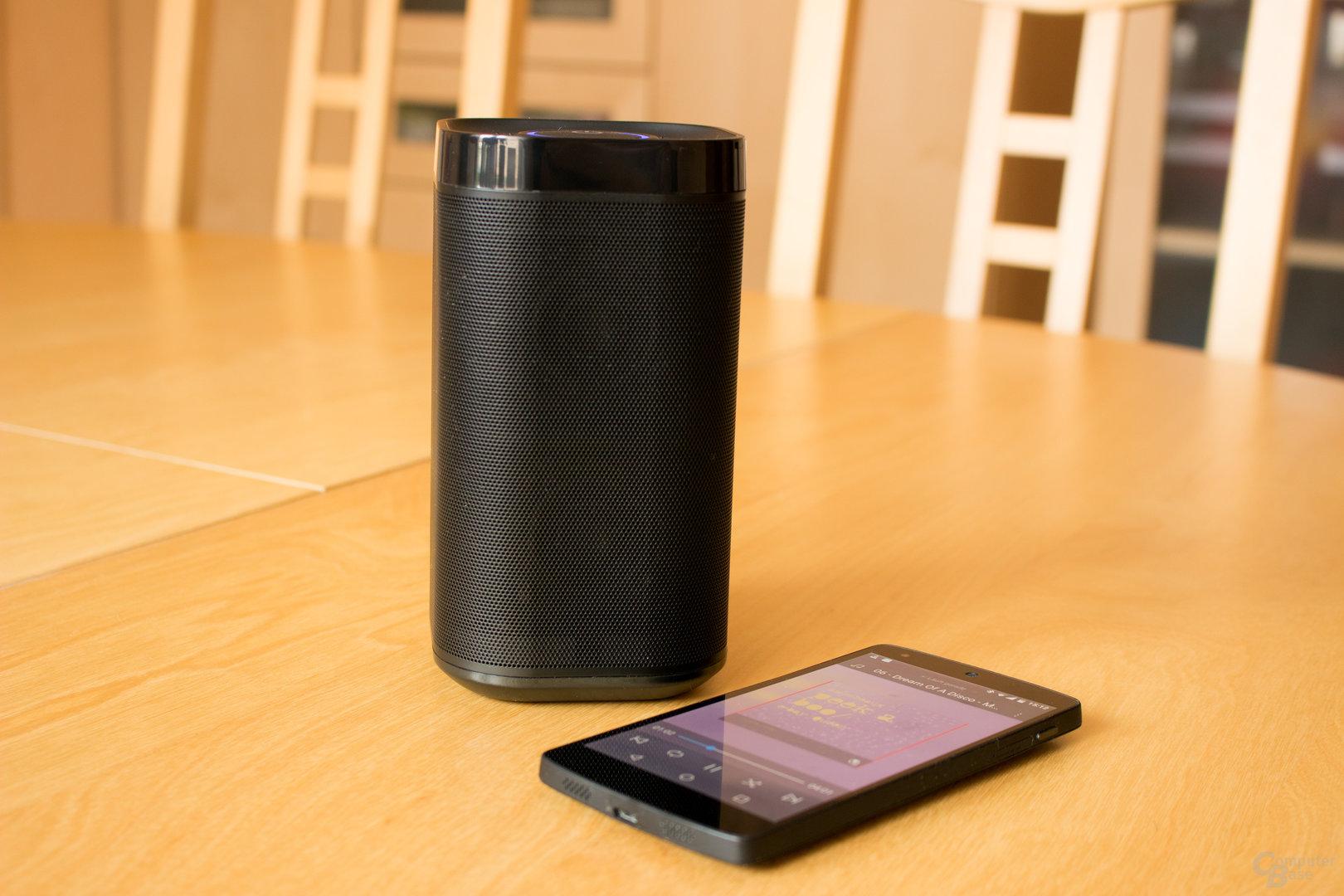 Der DP300 lässt sich schnell und einfach per Bluetooth mit einem Quellgerät koppeln