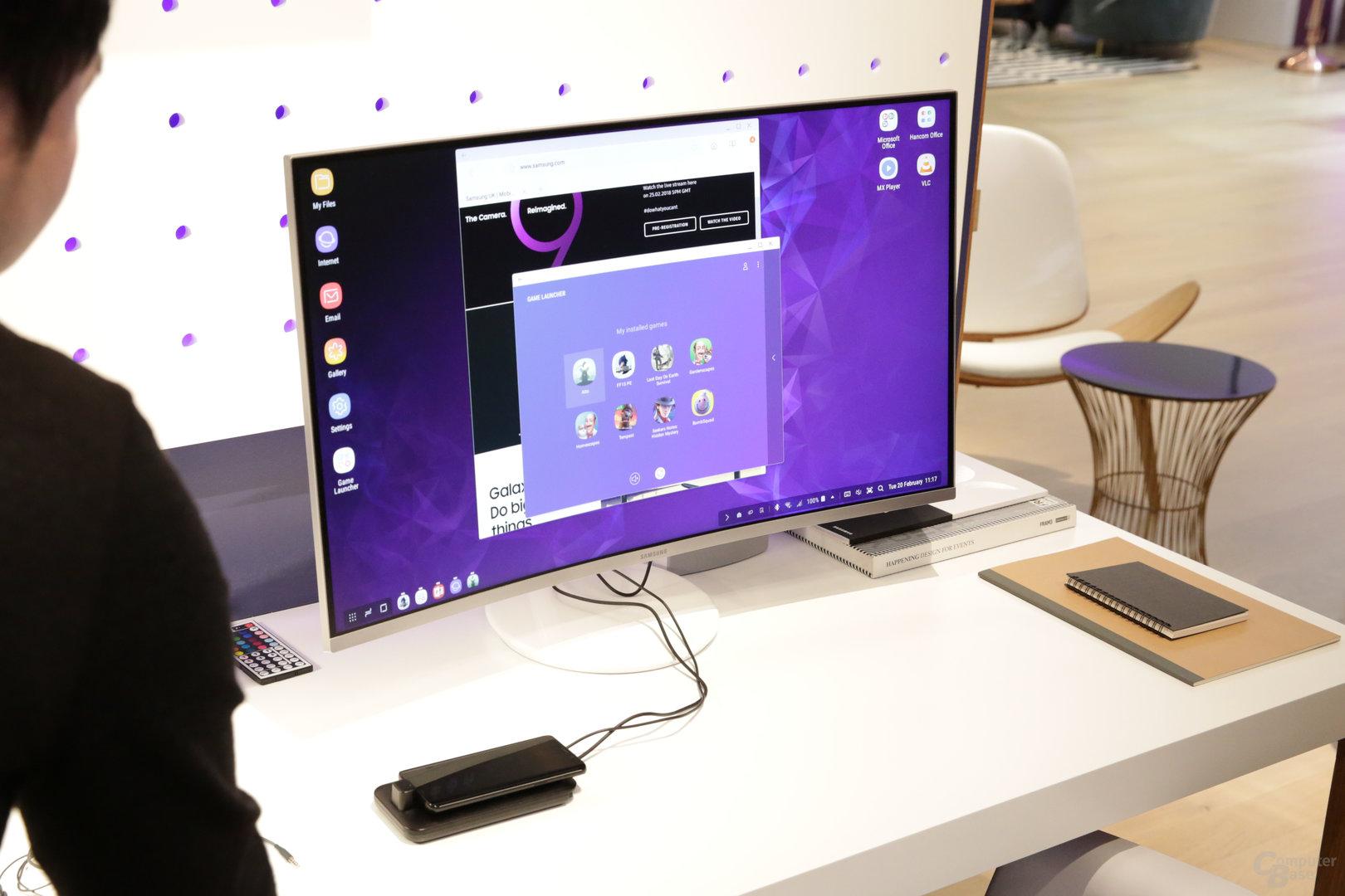 Neue DeX-Station mit Smartphone als Touchpad
