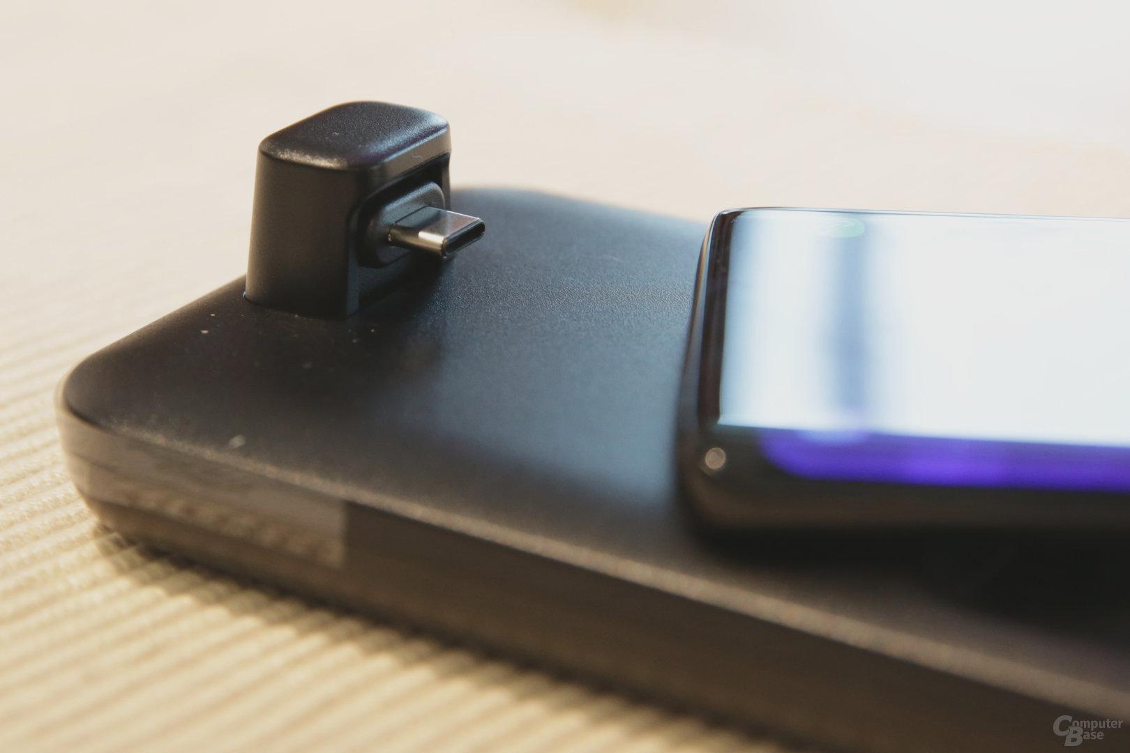 USB Typ C für die Verbindung