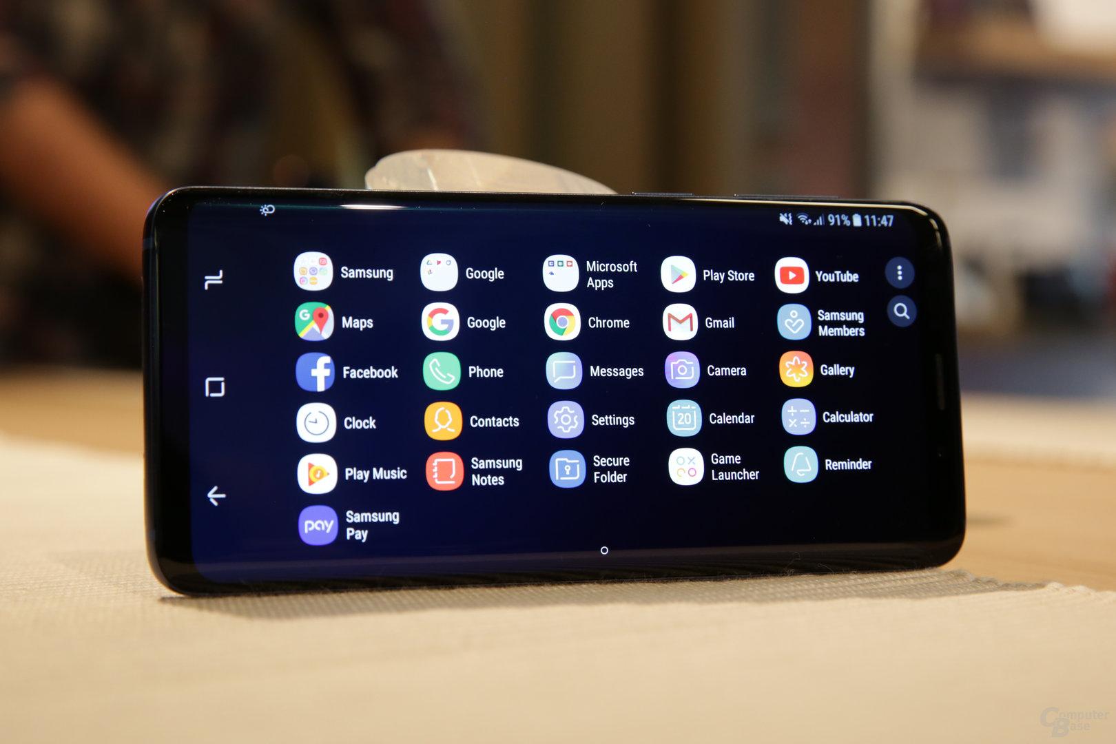 Android mit Landscape-Modus
