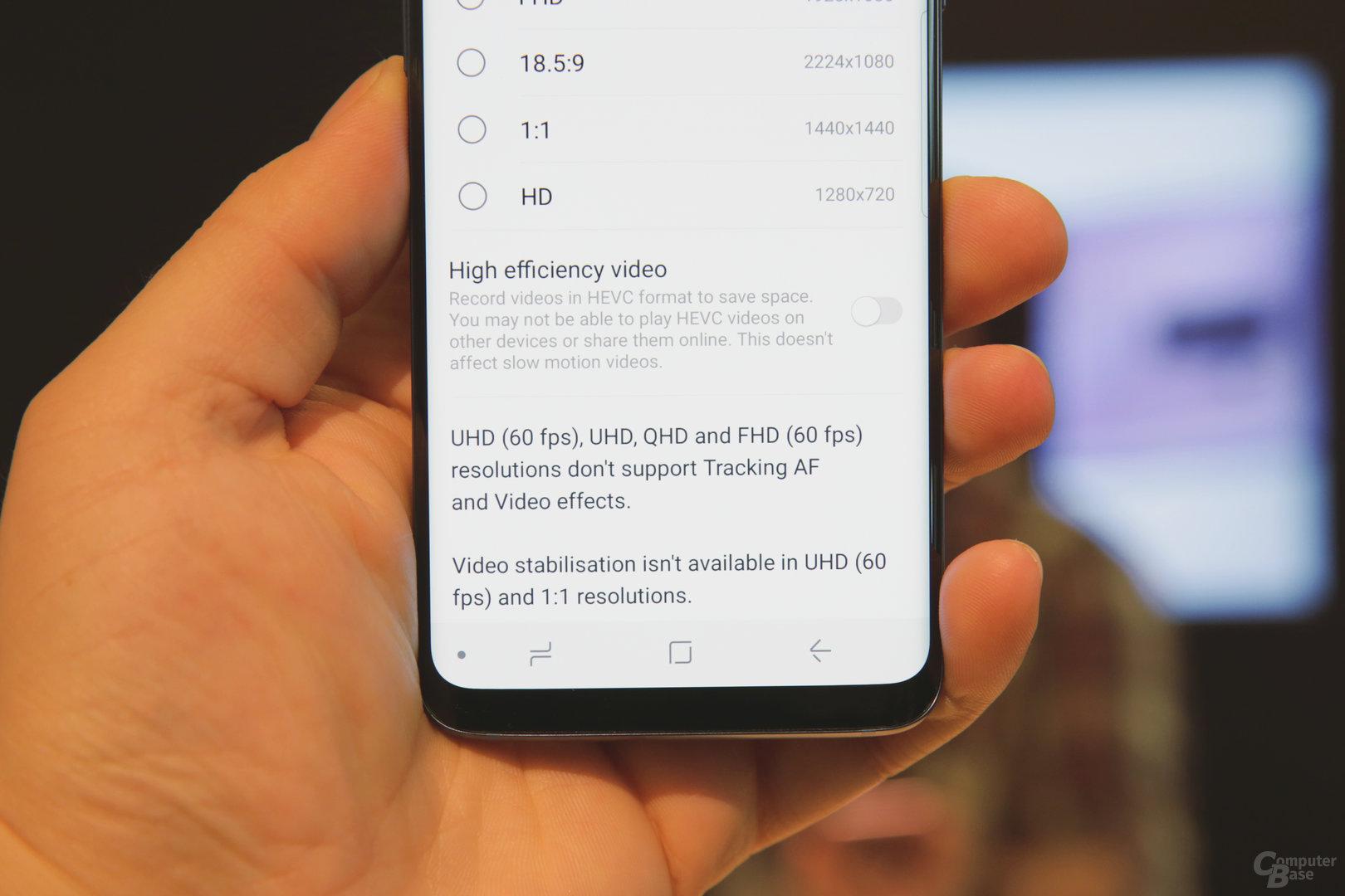 UHD mit 60 FPS ohne Videostabilisierung