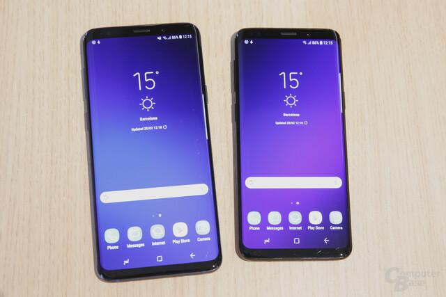 Galaxy S9+ mit 6,2 Zoll und Galaxy S9 mit 5,8 Zoll