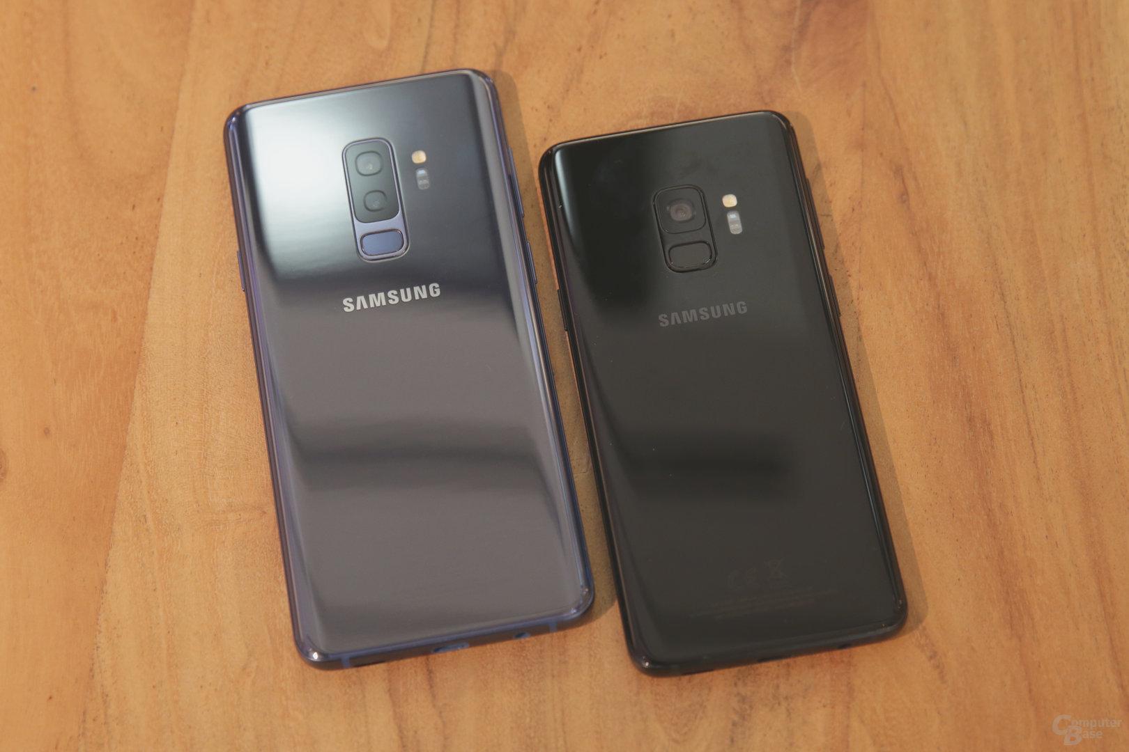 Galaxy S9+ und Galaxy S9 im Vergleich