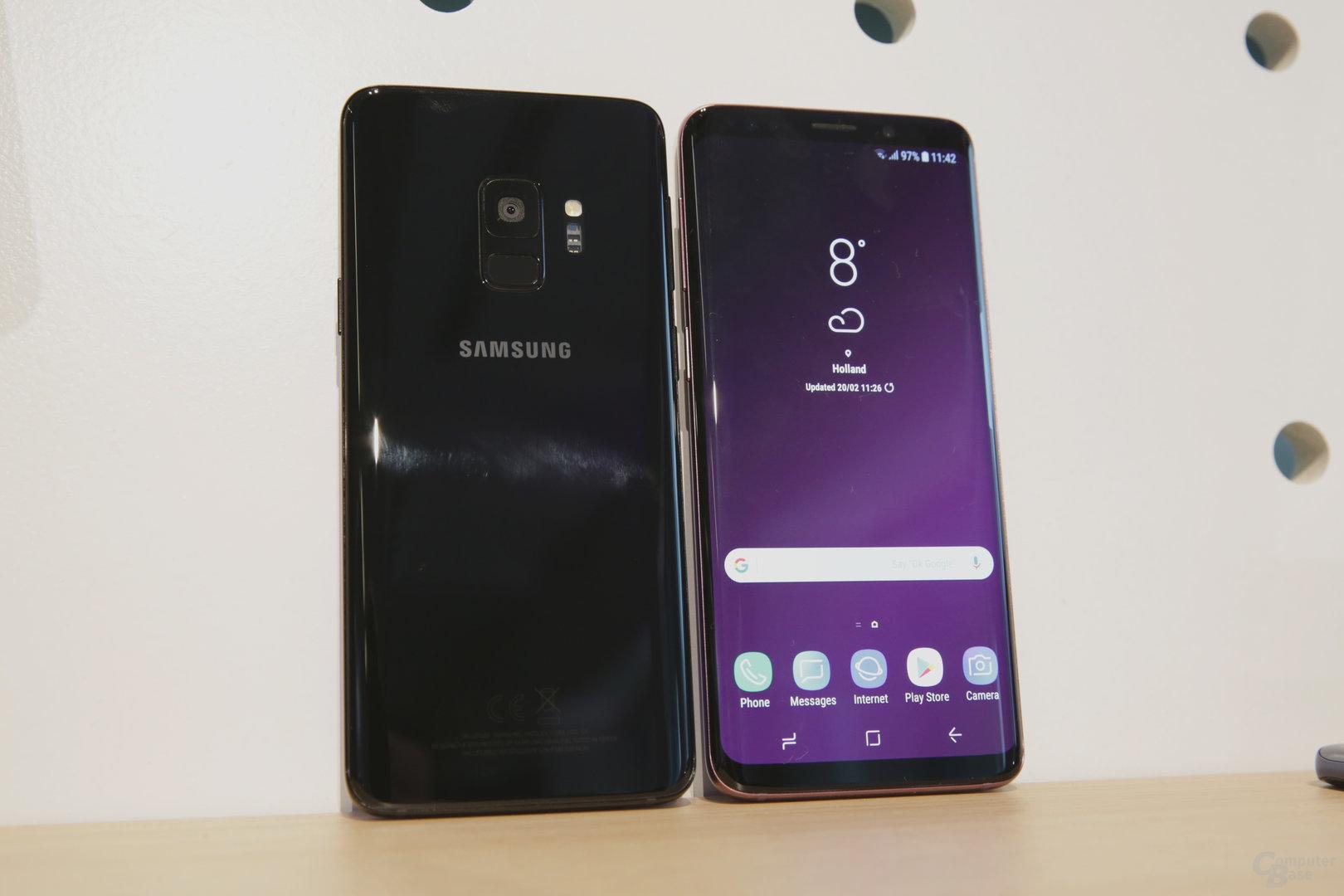 Galaxy S9 mit neuem Fingerabdrucksensor