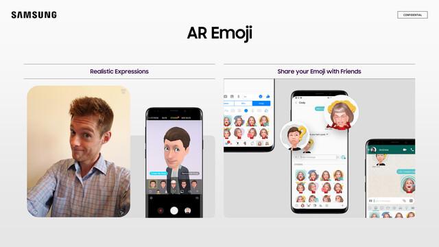 Mit AR Emoji kontert Samsungs Apples Animoji