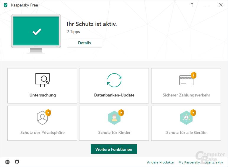 Kaspersky Free Antivirus – Übersicht