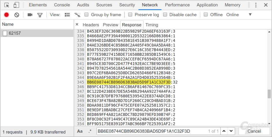 API-Request im Netzwerk-Tab der Google Chrome Entwickler-Tools (2)