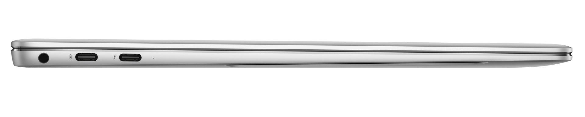 Klinke, USB Typ C (PowerDelivery) und Thunderbolt 3 rechts