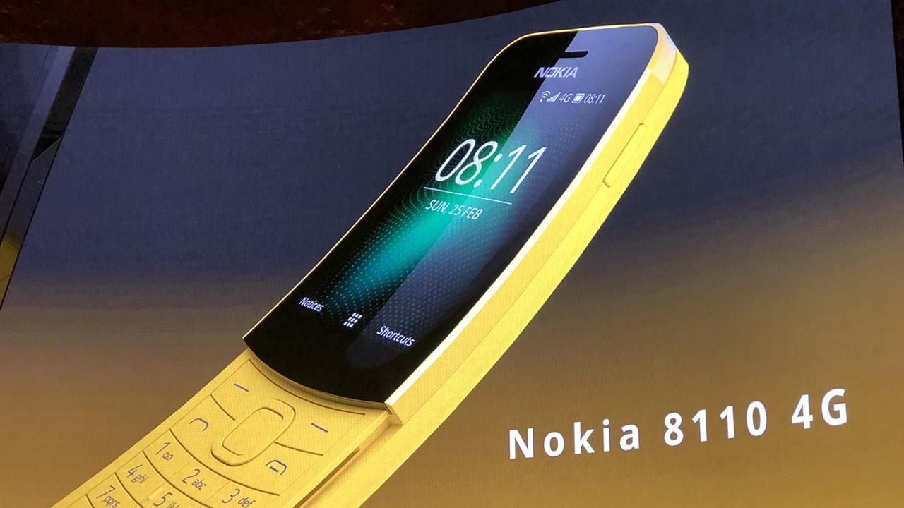 Nokia 8110: Revival des Matrix-Handys mit LTE und Google-Apps