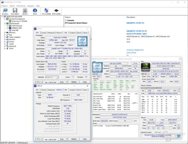 Intel Core i7-8700K auf günstigem Board übertaktet