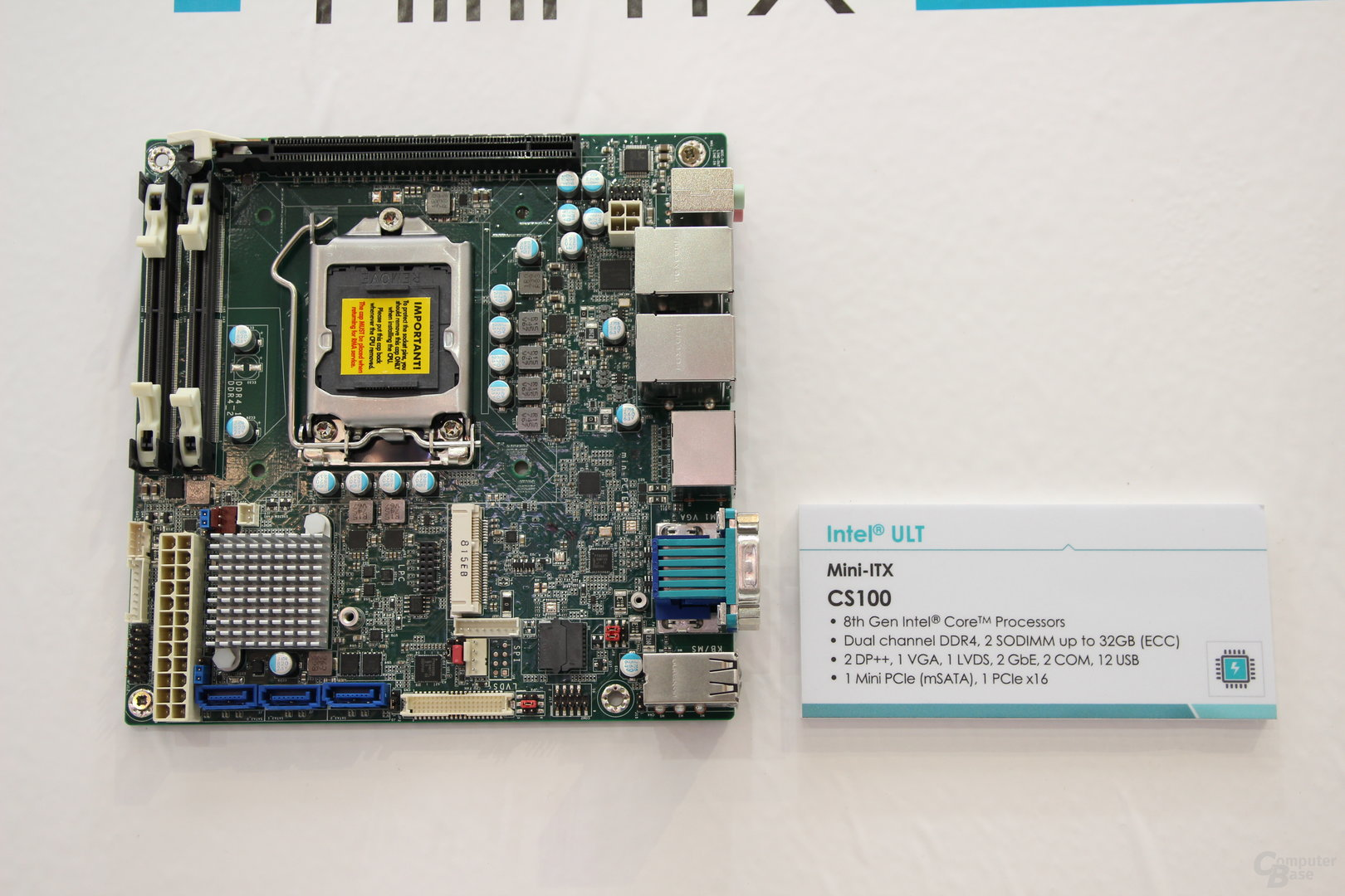 Mainboards mit Q370-, H370- und H310-Chipsatz zur Embedded World 2018
