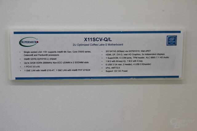 Mainboards mit Q370/H310-Chipsatz von Supermicro
