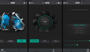 Per App lassen sich Drehzahl und LEDs steuern