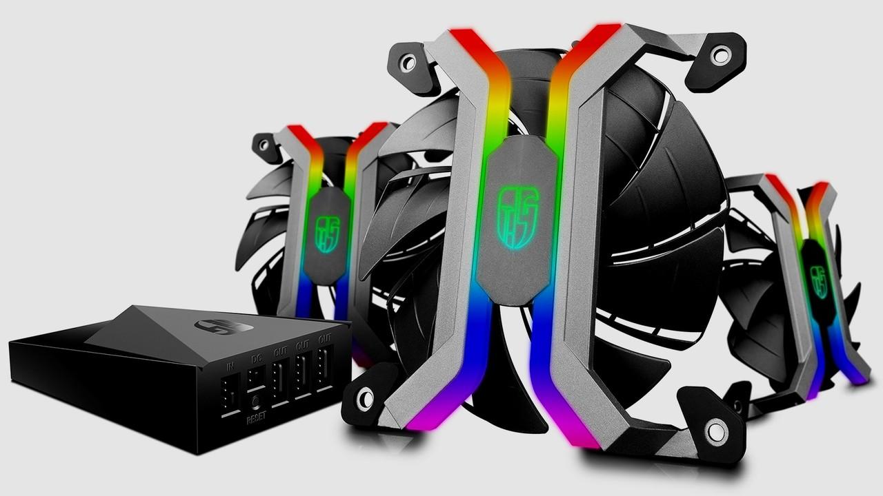 Deepcool MF120: Rahmenlose Lüfter mit per WLAN gesteuertem RGB-Licht