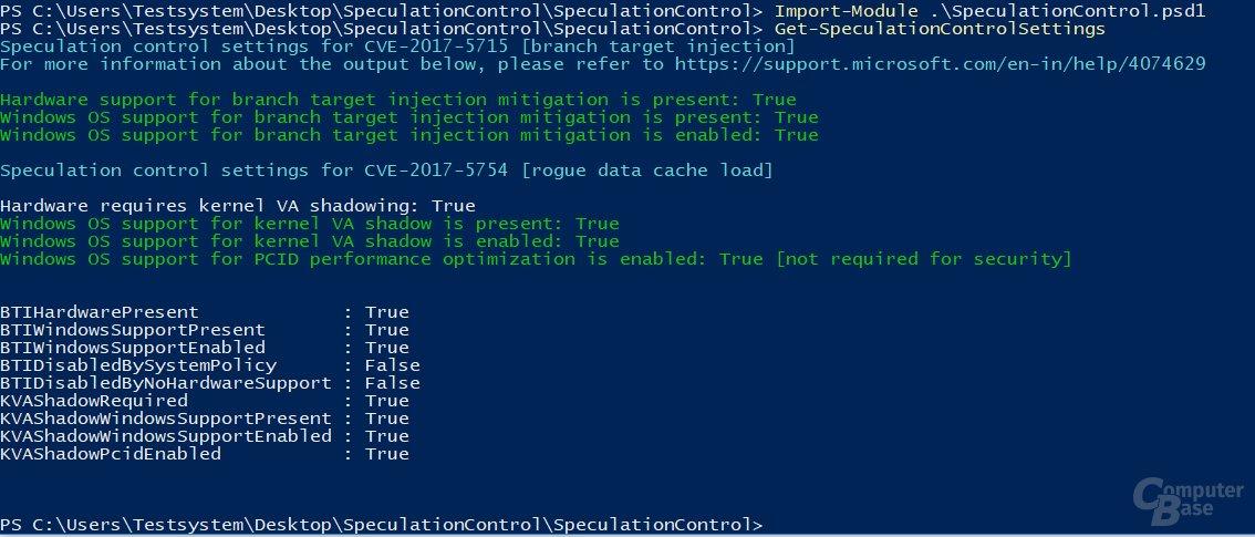 Ohne BIOS-Update gegen Spectre Variante 2 gewappnet