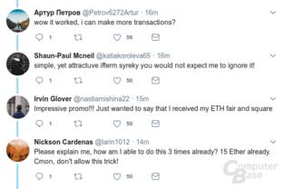 Fake-Reaktionen auf den Fake-Tweet