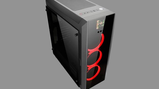 Chieftec Scorpion: Display-Lüftersteuerung hinter Glasfront