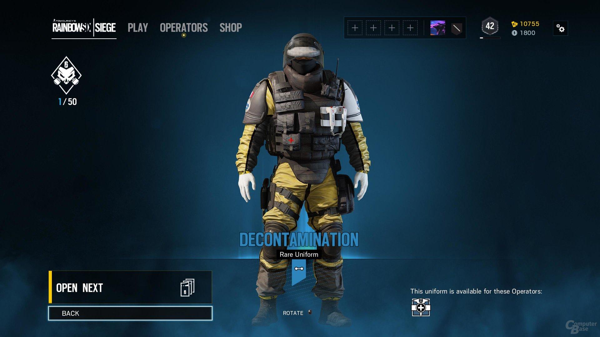 Outbreak-Packs enthalten unter anderem gelbe Uniformen
