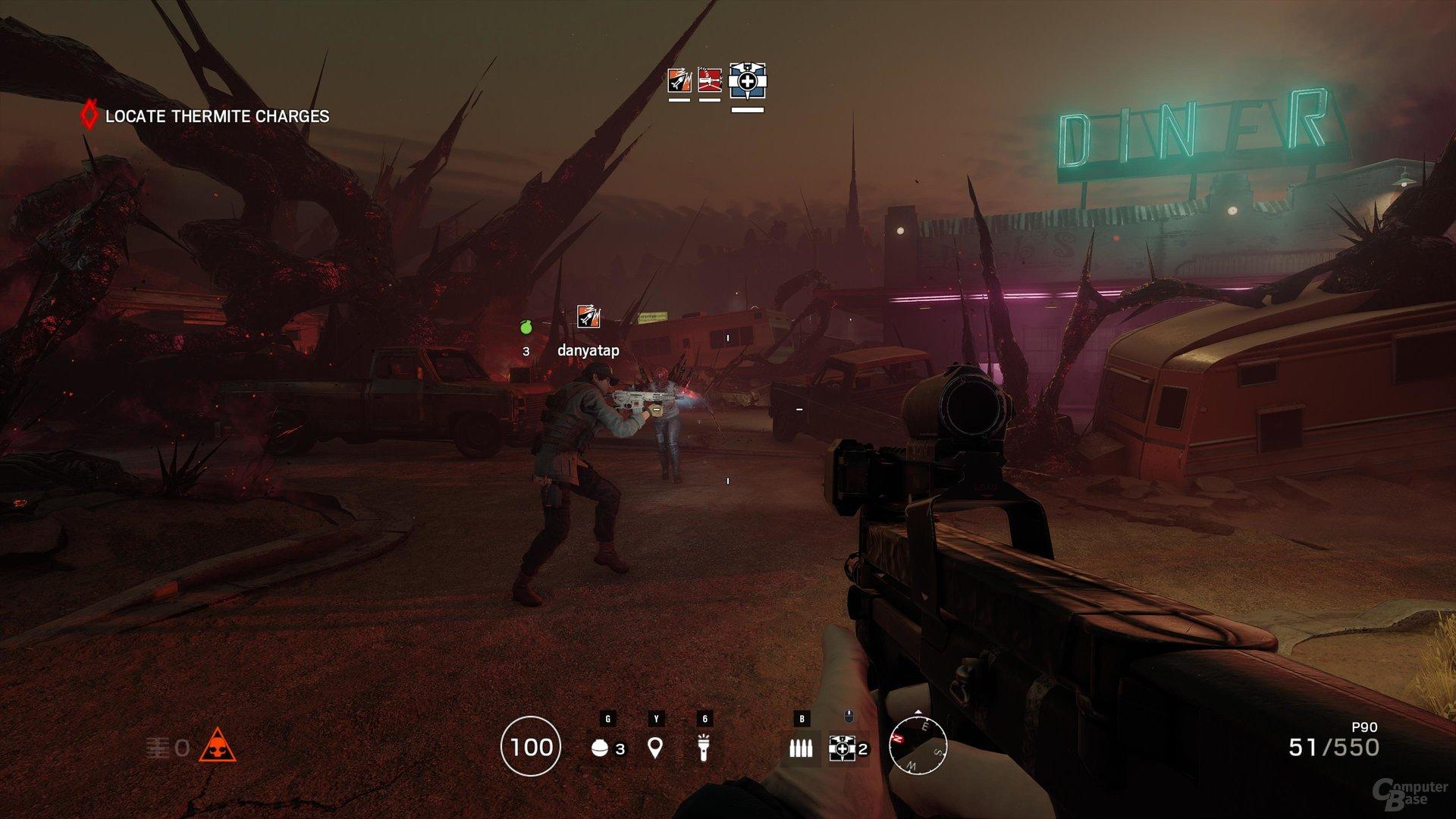 Zombies und eine andere Farbpalette schaffen Atmosphäre