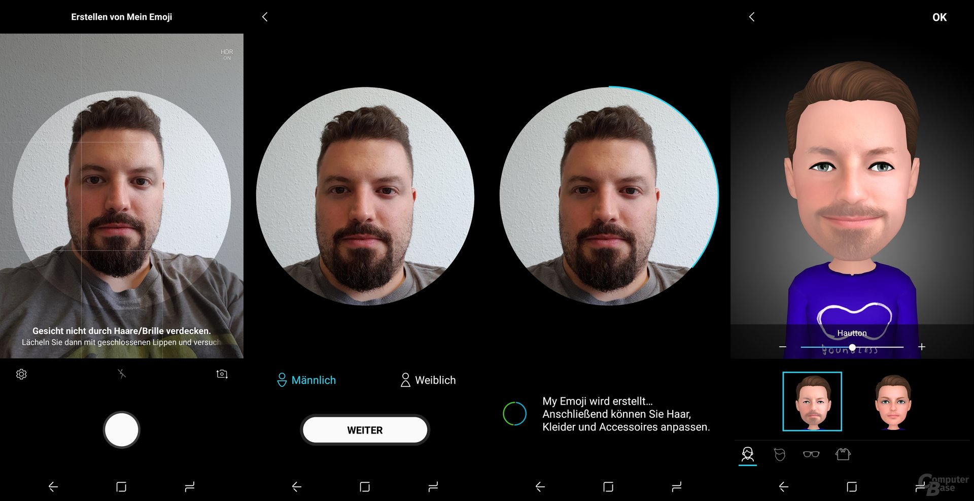 Einrichtung des persönlichen AR Emoji