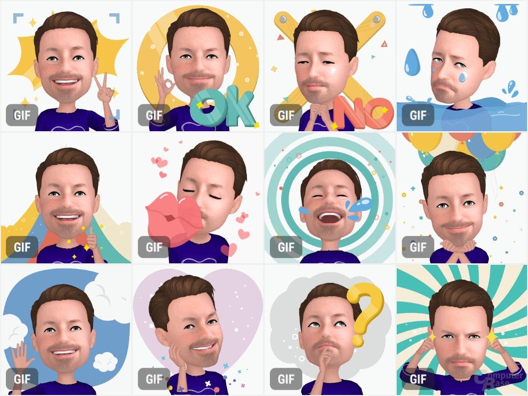AR Emoji landen als GIF in der Galerie