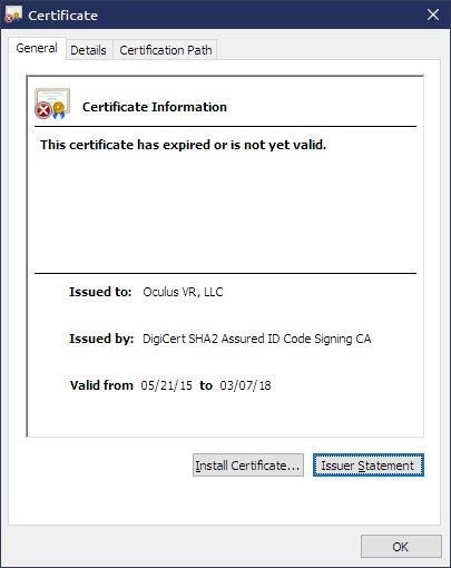 Schuld hat ein abgelaufenes Zertifikat
