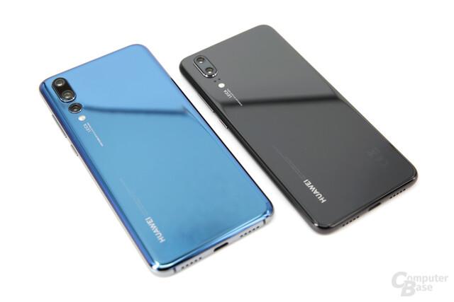 Huawei P20 Pro neben Huawei P20