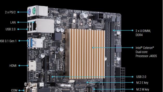 Prime J4005I-C: Auch Asus setzt auf Gemini Lake mit 10 Watt in Mini-ITX