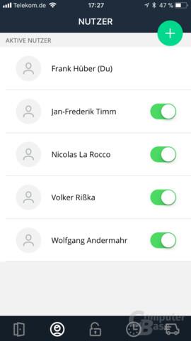 nello one – Benutzerverwaltung