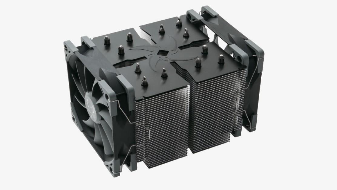Scythe Ninja 5: Quadratkühler mit zwei langsamen Lüftern