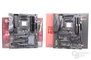MSI X470 Gaming M7 AC und Asus X470 Crosshair VII machen einen guten Eindruck