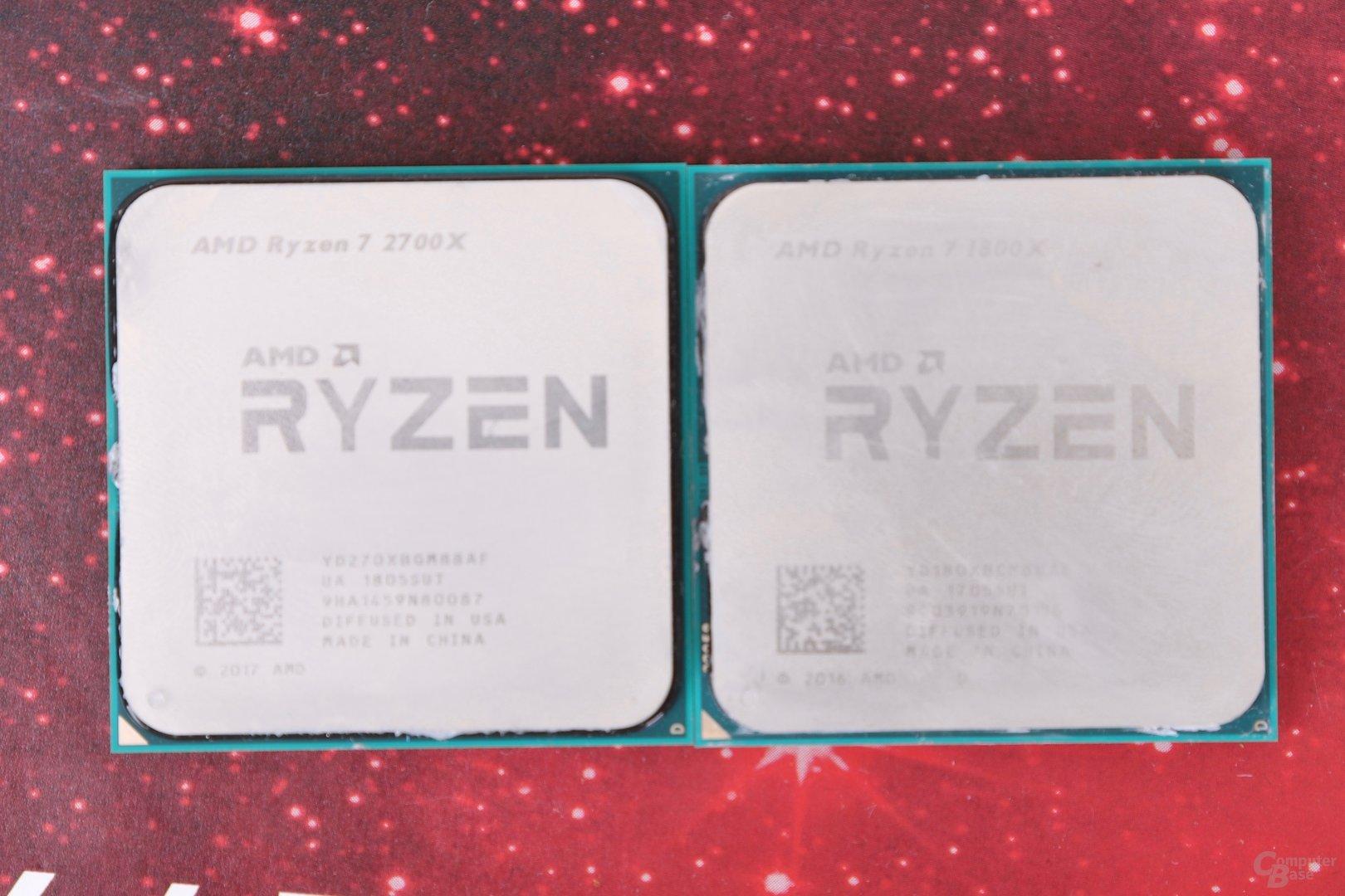 Der Ryzen 7 2700X lässt dem Ryzen 7 1800X keine Chance