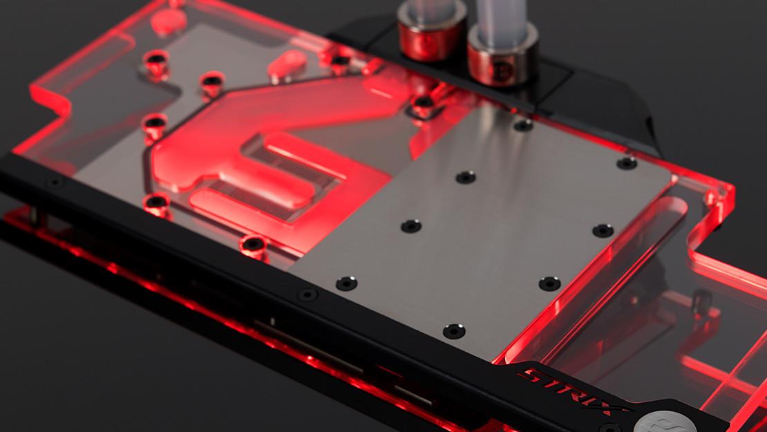 EK Water Blocks: Asus GeForce GTX 1080 Ti Strix erhält Wasserkühler mit RGB