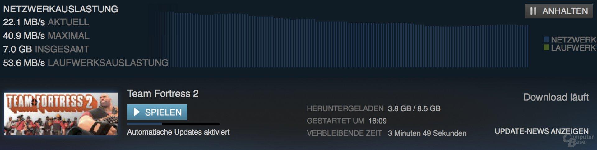 Steam-Download ohne Bitdefender Box