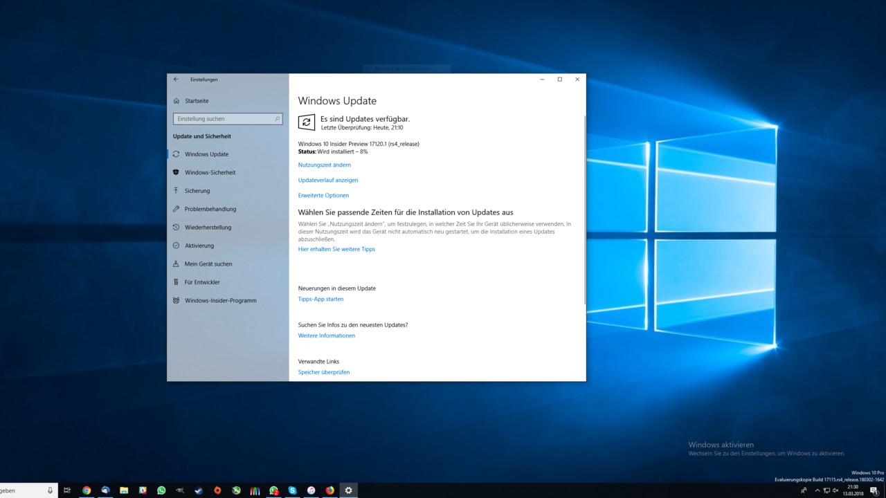 Windows 10: Redstone 4 erscheint als Version 1803 im April