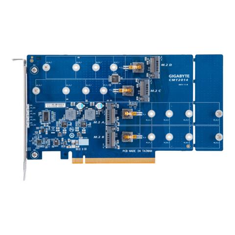 "Gigabytes ""4 x M.2 PCIe x16 Card"" CMT2014"