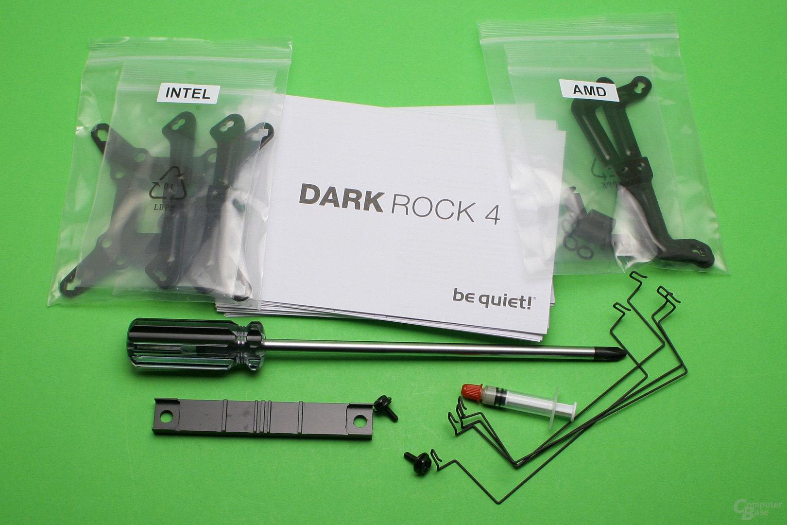 be quiet! Dark Rock 4: Lieferumfang